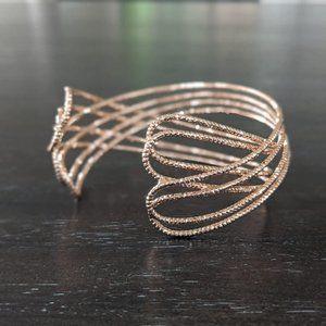 Moda di Pietra Rosegold Crisscross Bracelet